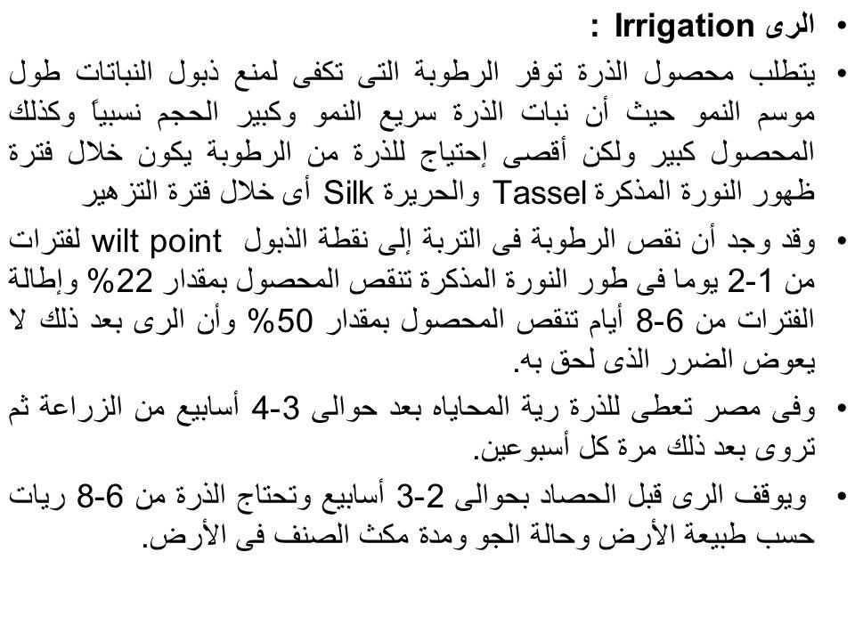 الرى Irrigation :
