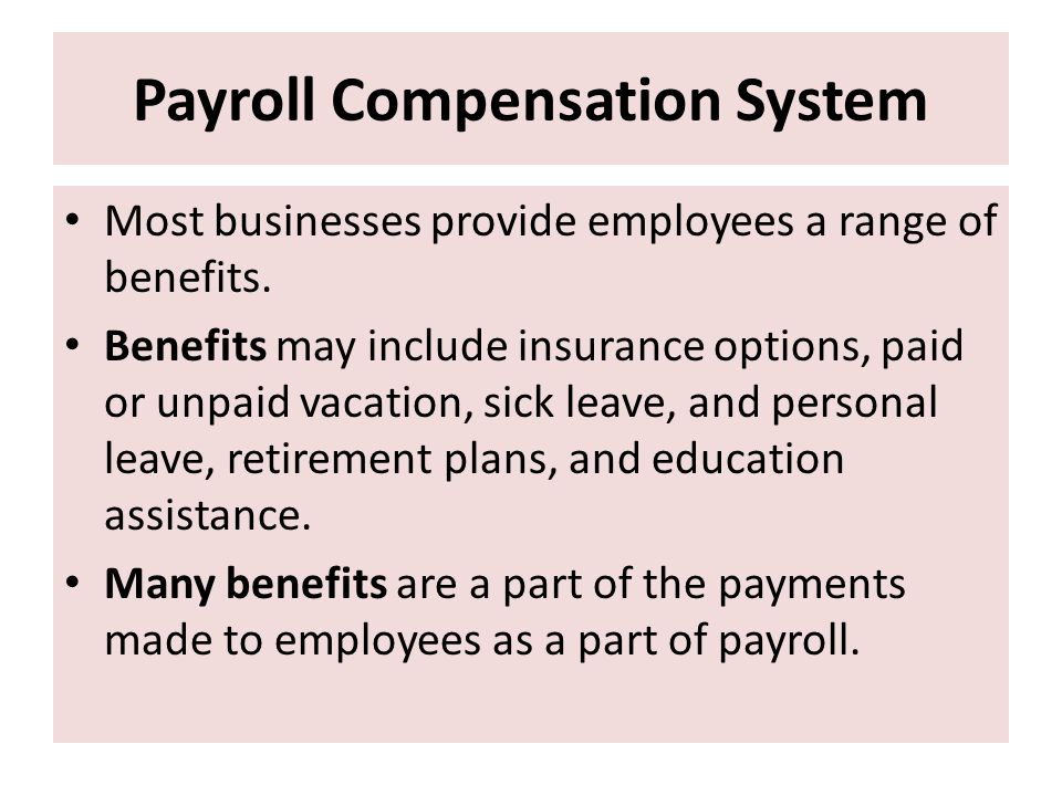 Payroll Compensation System
