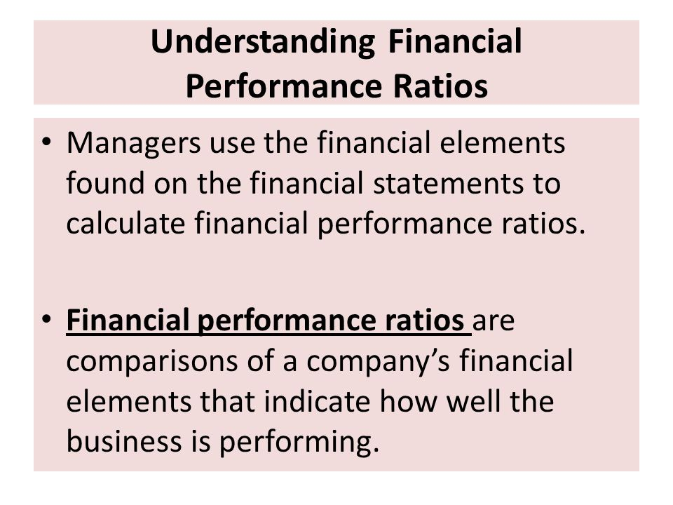 Understanding Financial Performance Ratios