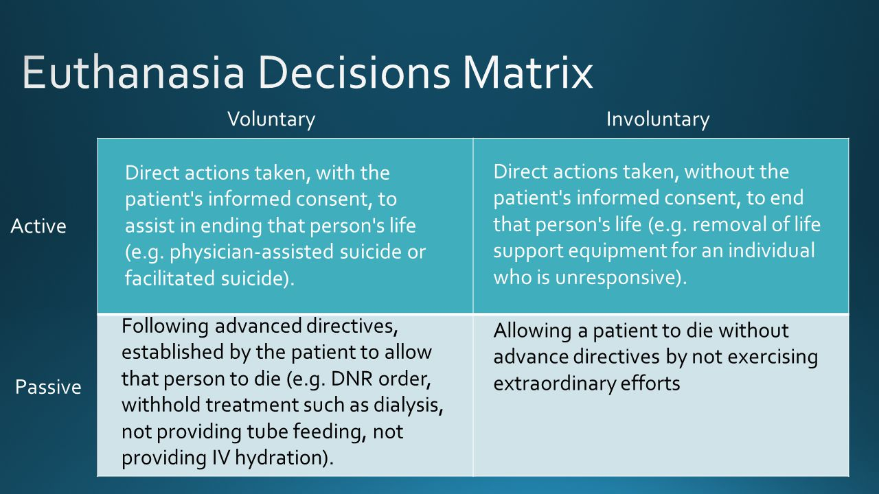 Euthanasia Decisions Matrix