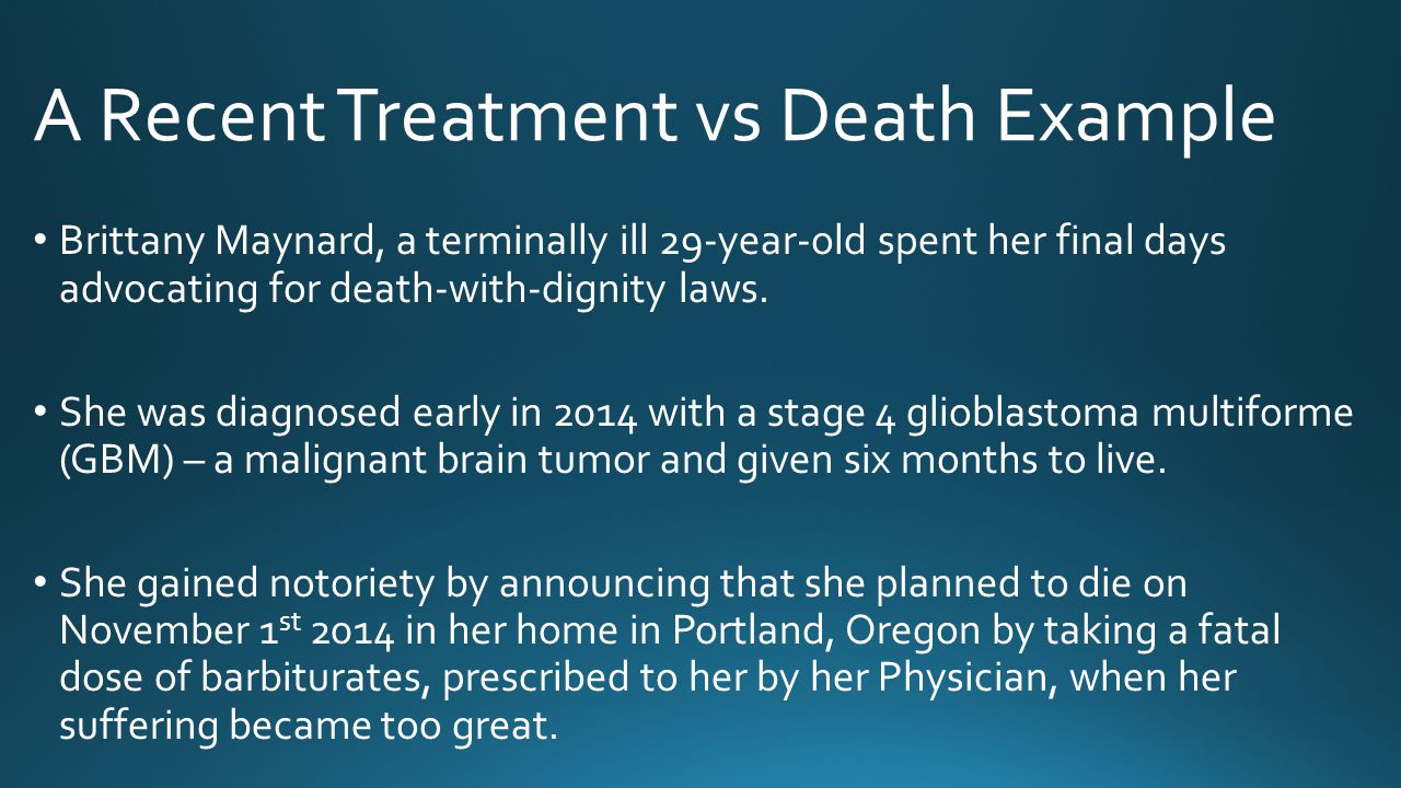 A Recent Treatment vs Death Example