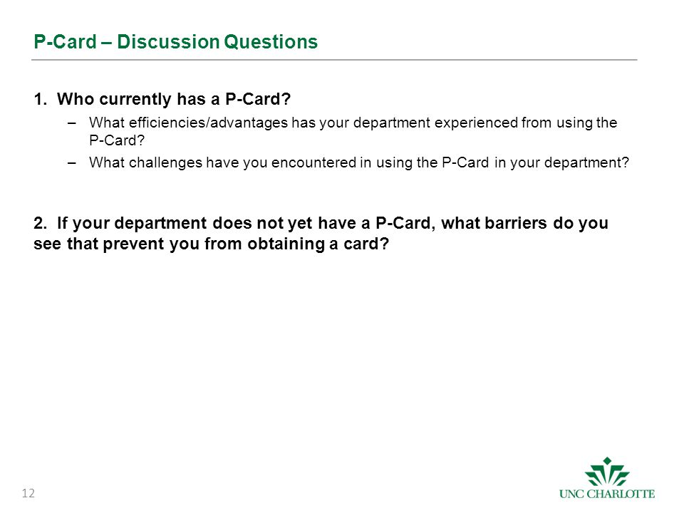 P-Card – Discussion Questions