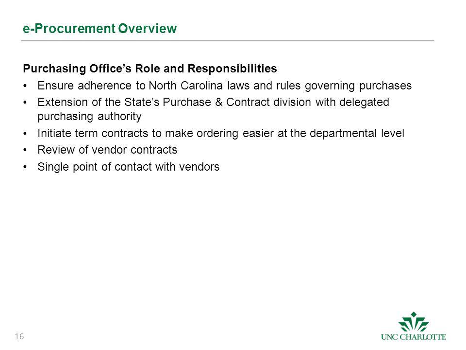 e-Procurement Overview