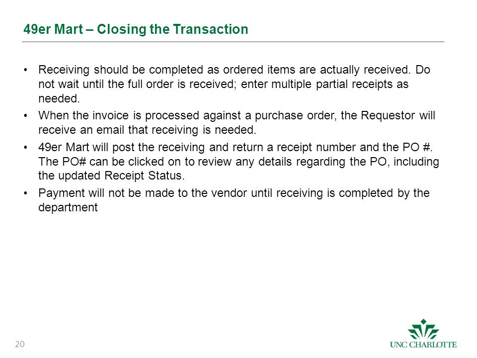 49er Mart – Closing the Transaction