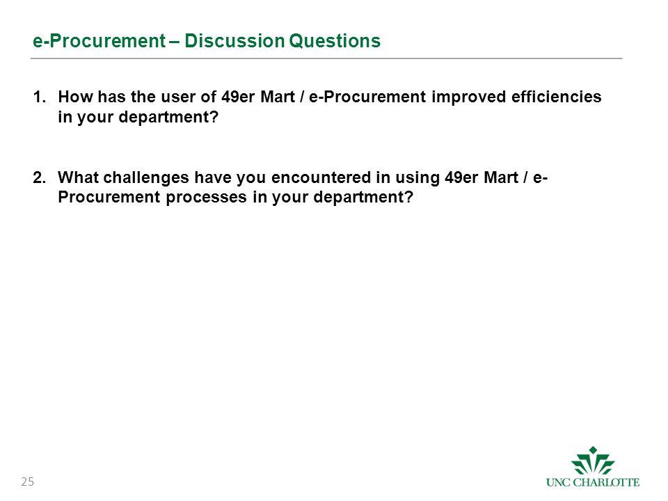 e-Procurement – Discussion Questions