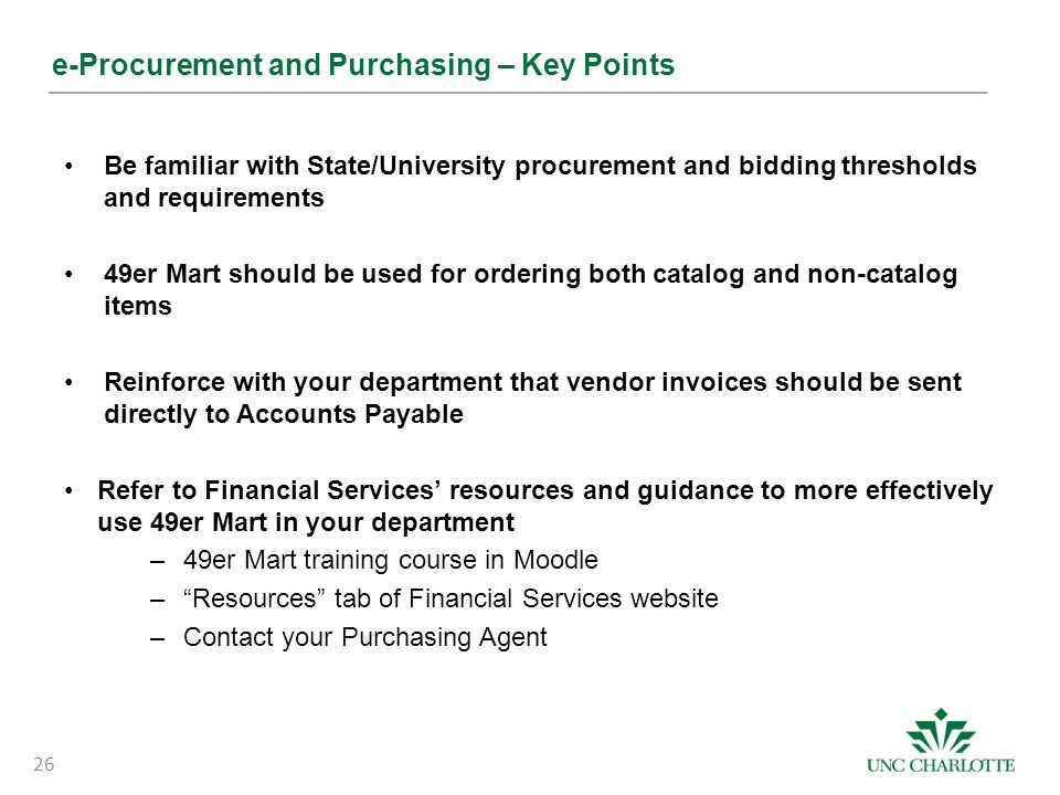 e-Procurement and Purchasing – Key Points