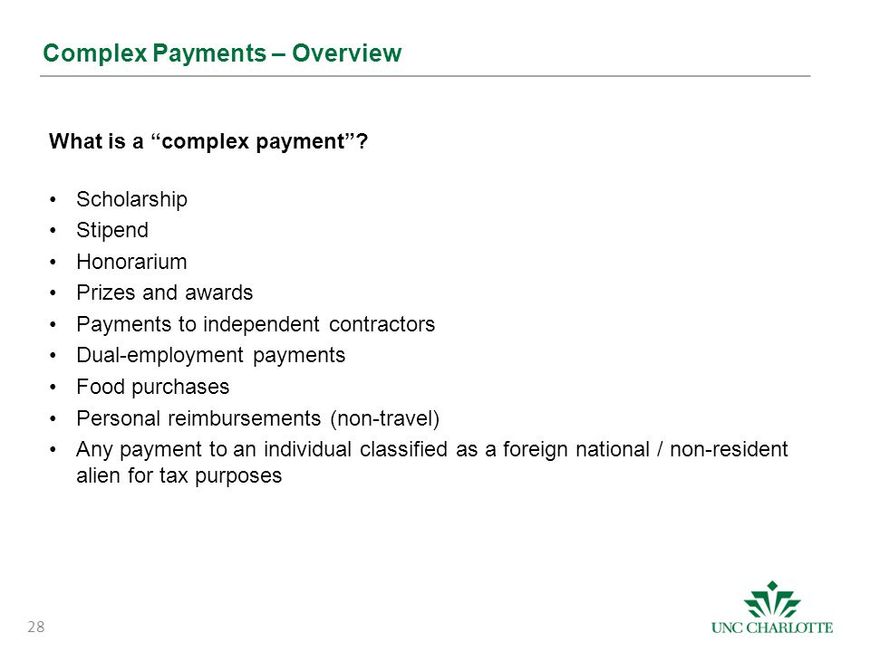 Complex Payments – Overview