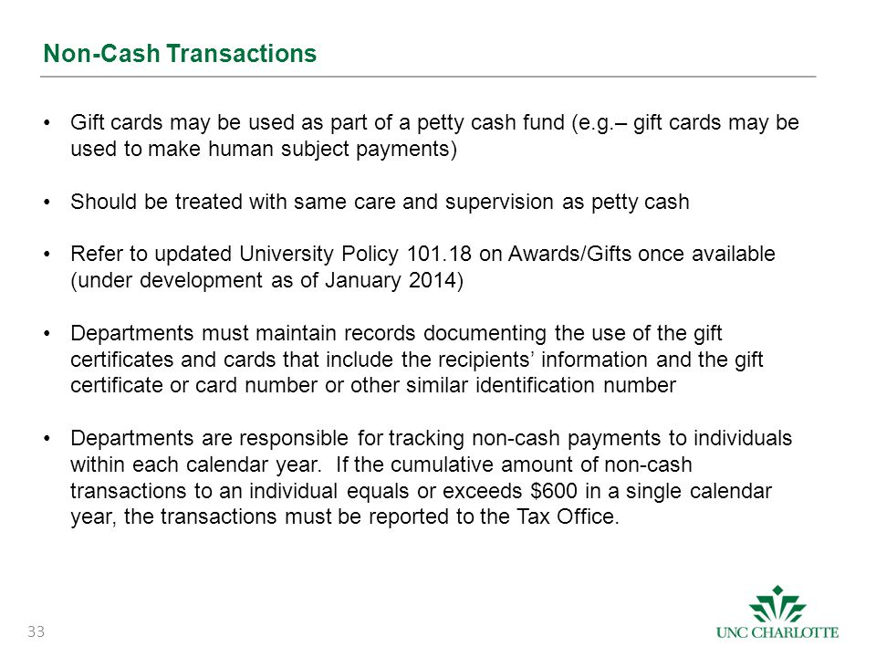 Non-Cash Transactions