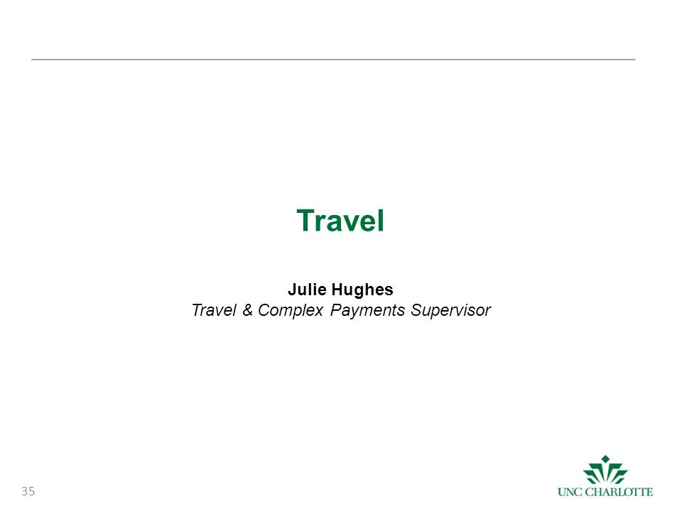 Travel & Complex Payments Supervisor