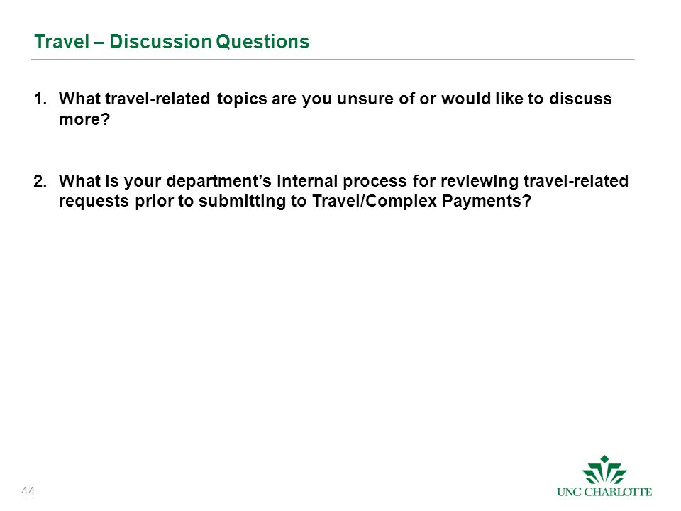 Travel – Discussion Questions