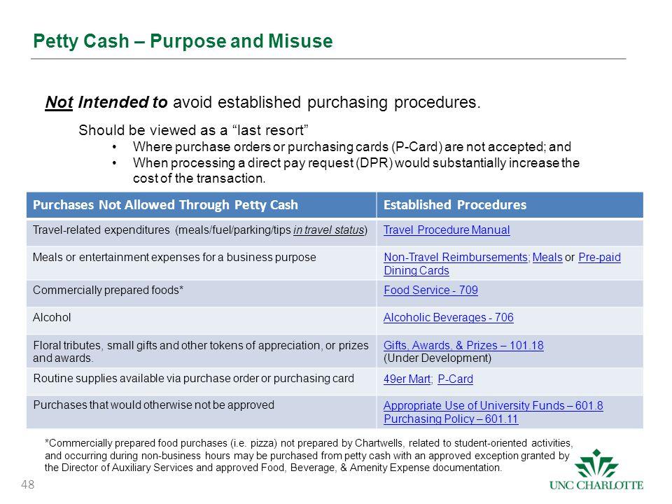 Petty Cash – Purpose and Misuse