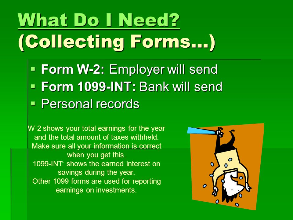 What Do I Need (Collecting Forms…)