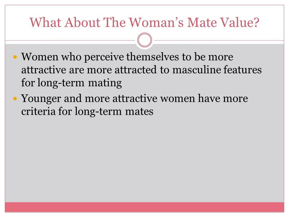 What About The Woman's Mate Value