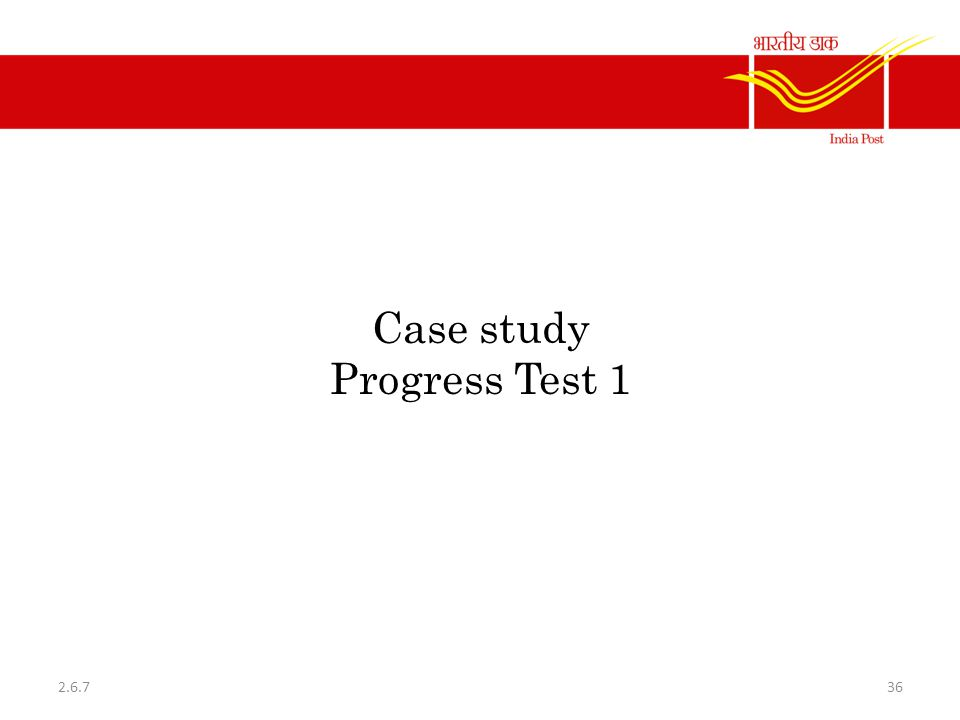 Case study Progress Test 1