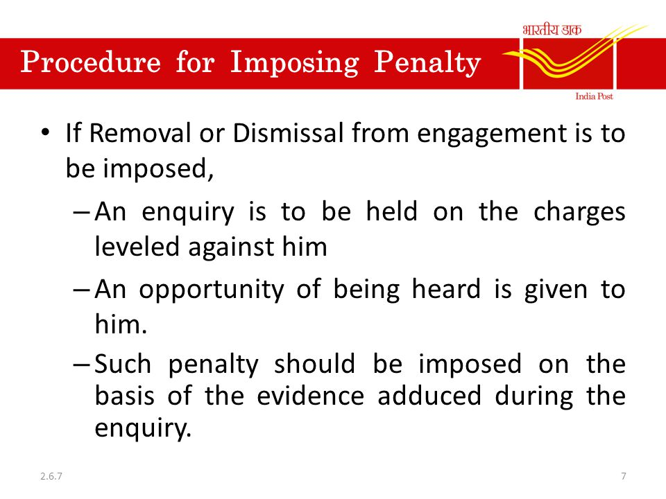 Procedure for Imposing Penalty