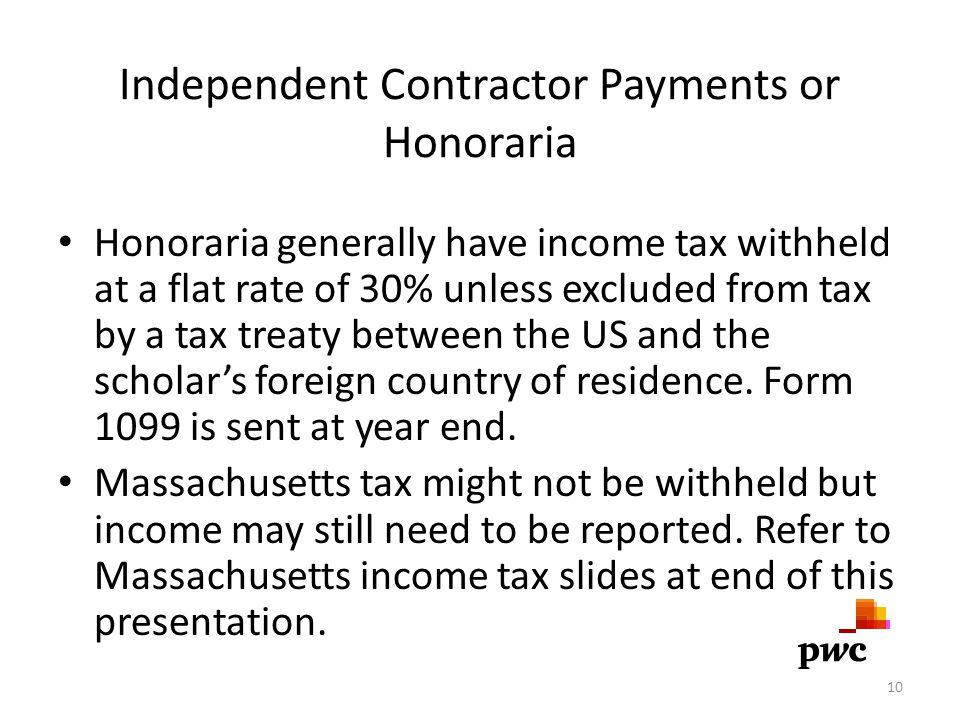 Independent Contractor Payments or Honoraria