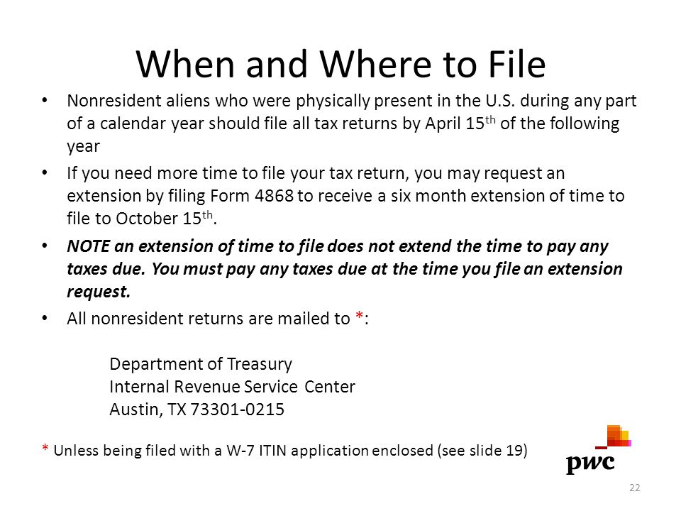 When and Where to File