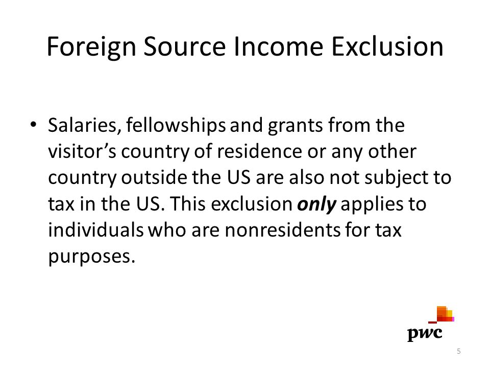 Foreign Source Income Exclusion