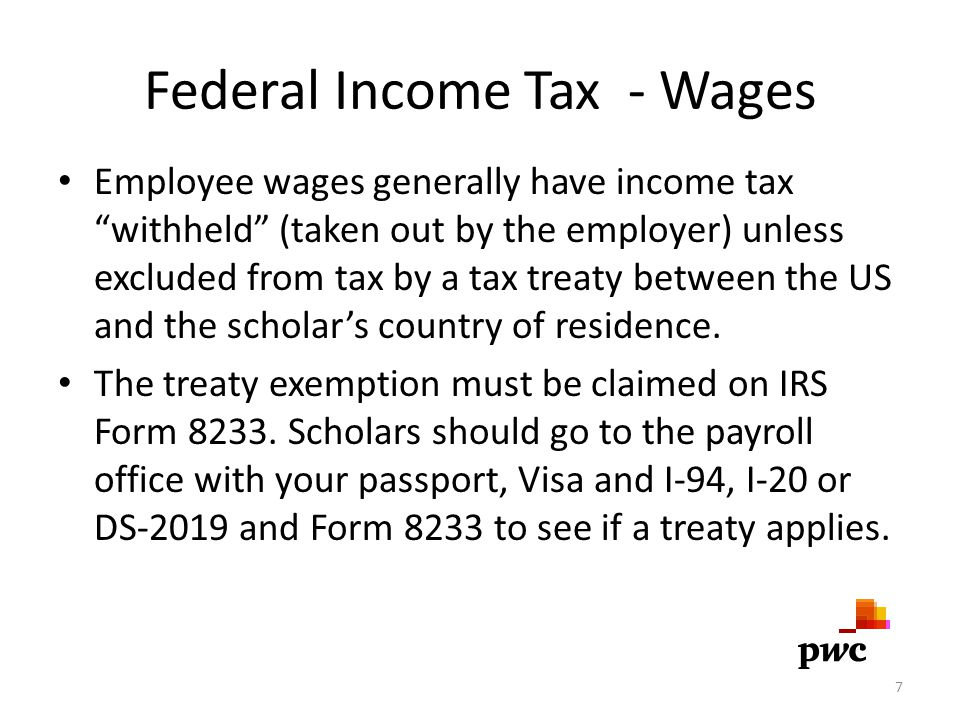 Federal Income Tax - Wages