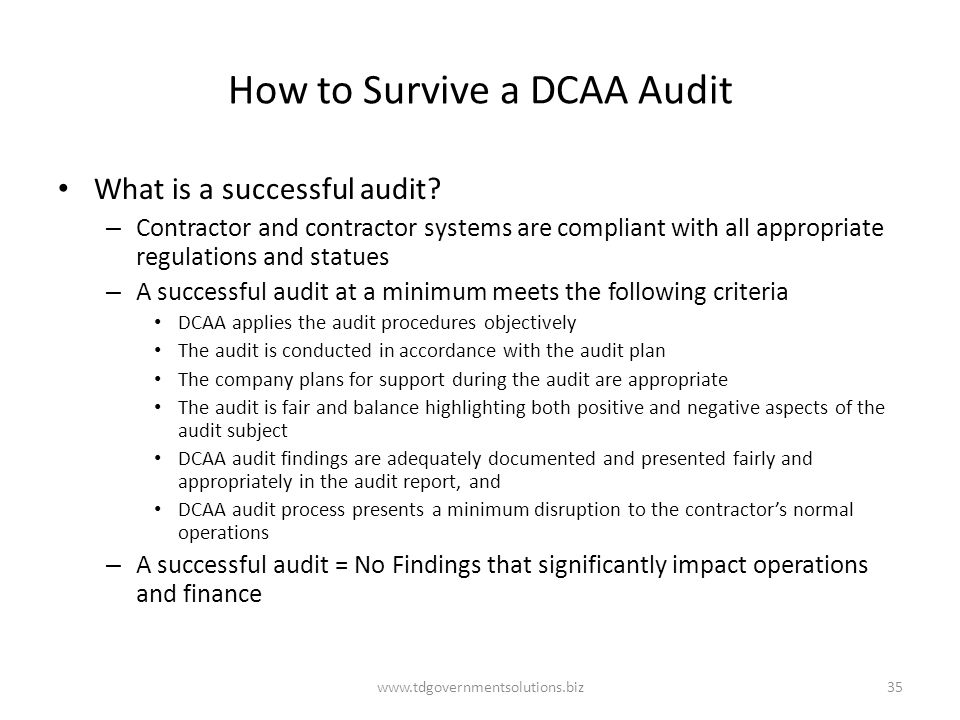 How to Survive a DCAA Audit