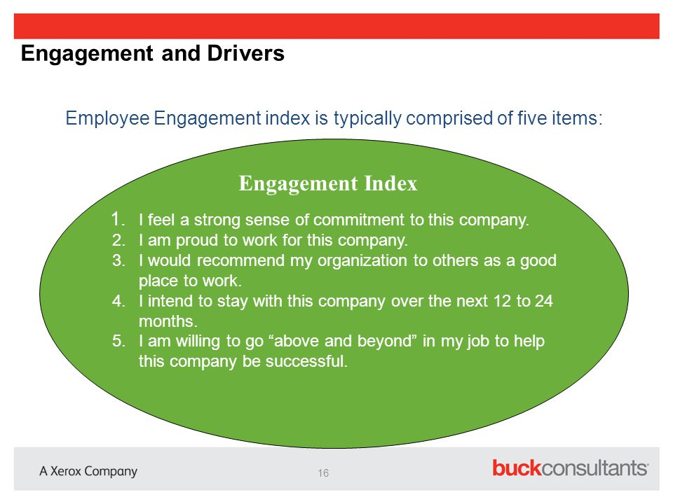 Engagement and Drivers