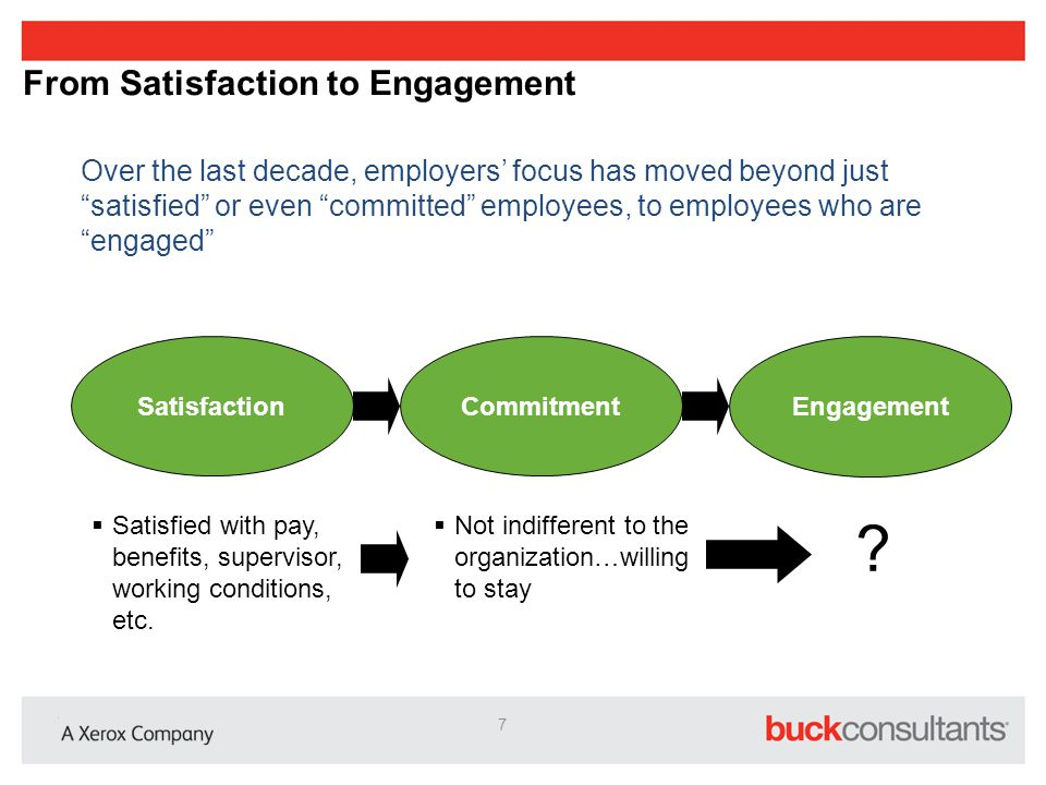 From Satisfaction to Engagement