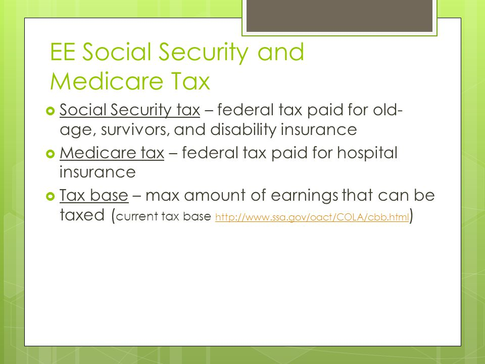 EE Social Security and Medicare Tax