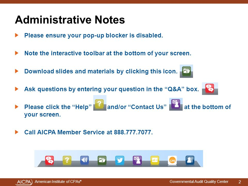 Administrative Notes Please ensure your pop-up blocker is disabled.