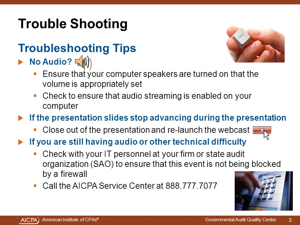 Trouble Shooting Troubleshooting Tips No Audio
