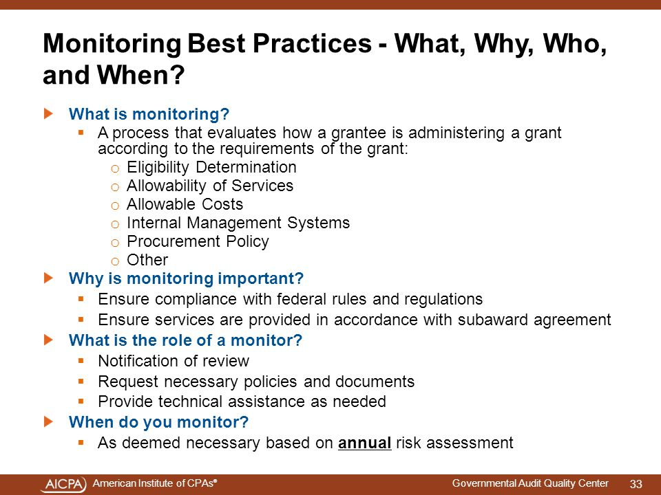 Monitoring Best Practices - What, Why, Who, and When