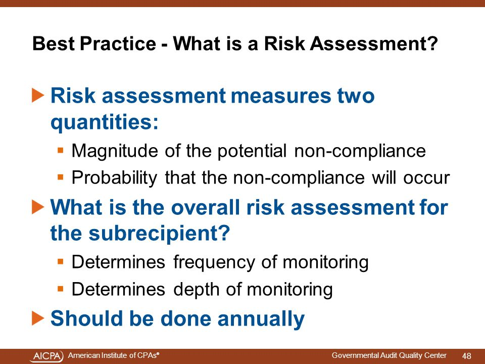 Best Practice - What is a Risk Assessment