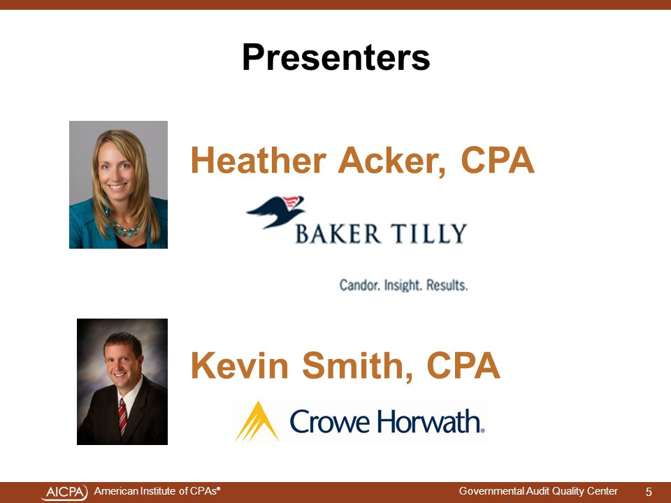 Heather Acker, CPA Kevin Smith, CPA