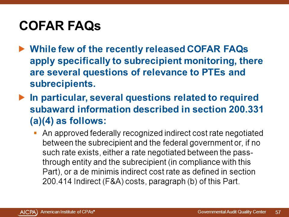 4/15/2017 COFAR FAQs.