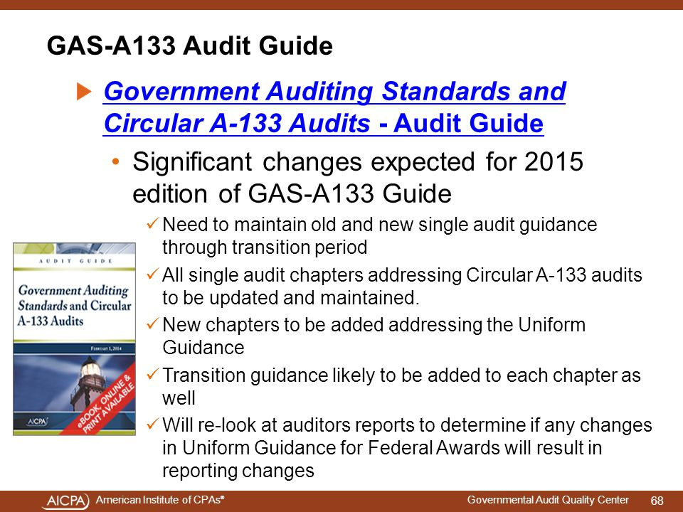 Government Auditing Standards and Circular A-133 Audits - Audit Guide