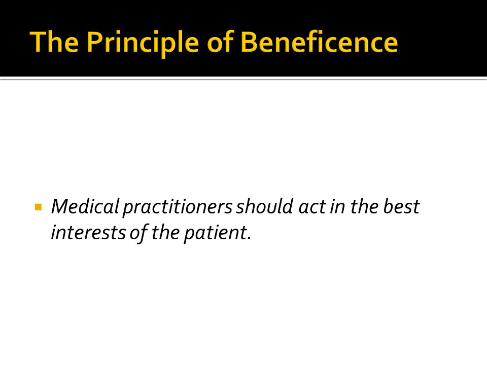 The Principle of Beneficence
