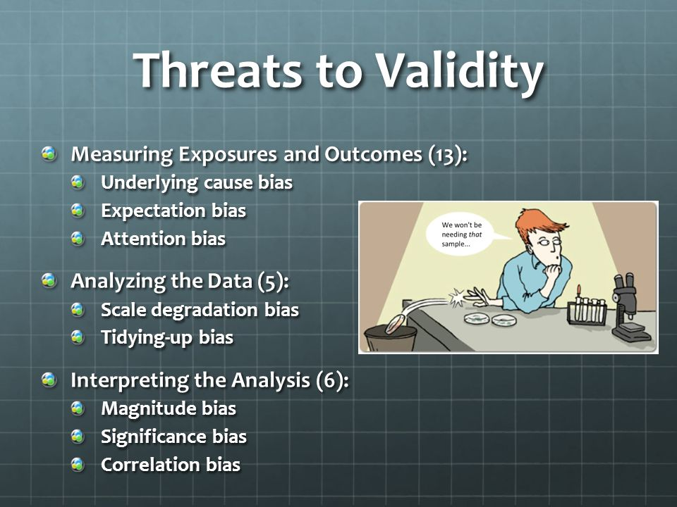 Threats to Validity Measuring Exposures and Outcomes (13):