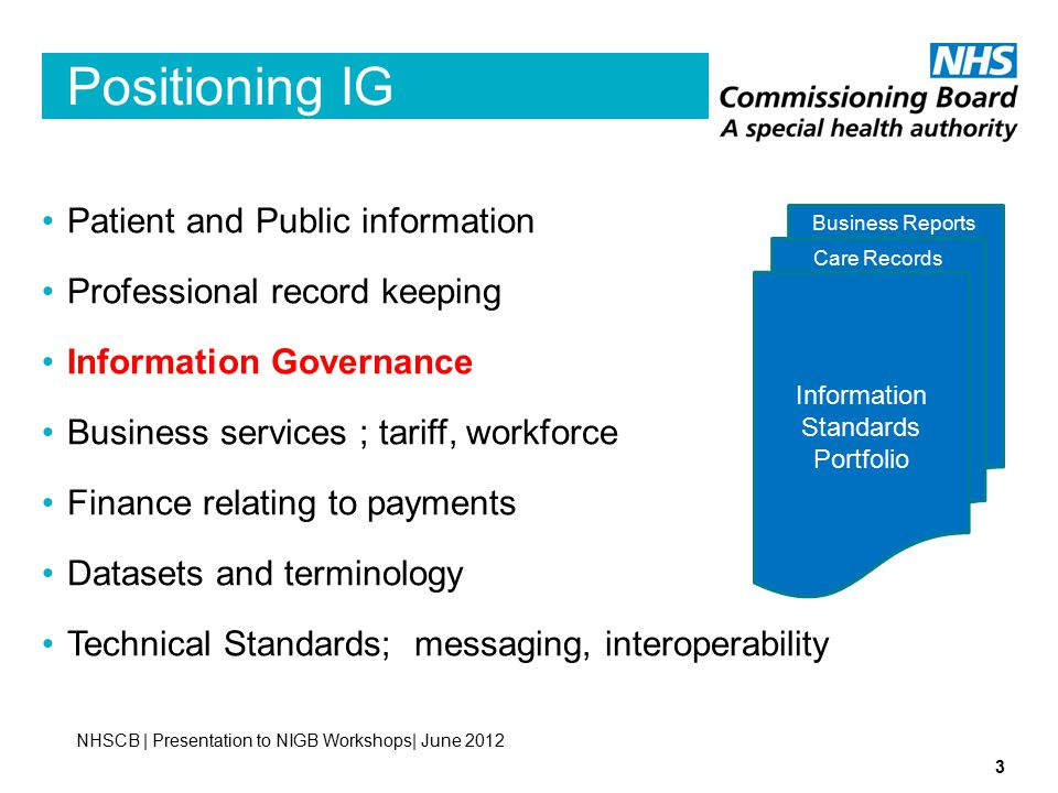 Positioning IG Patient and Public information