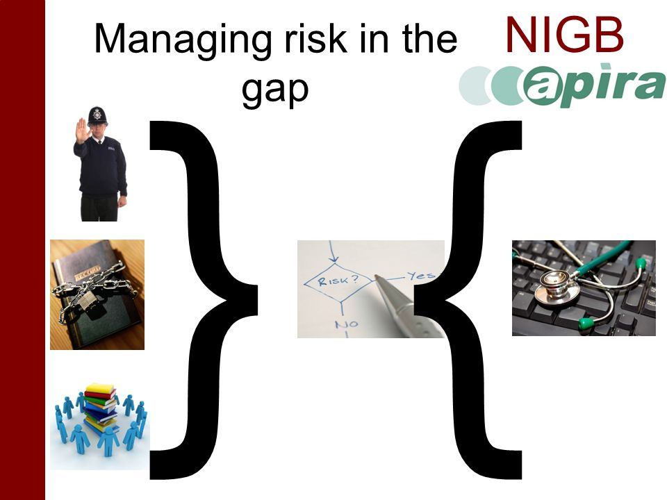 Managing risk in the gap