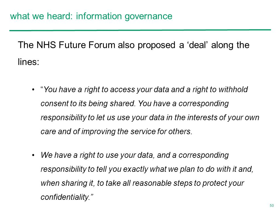 what we heard: information governance