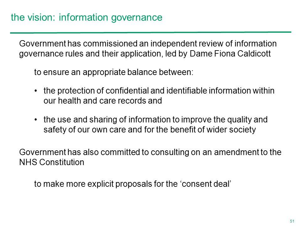 the vision: information governance