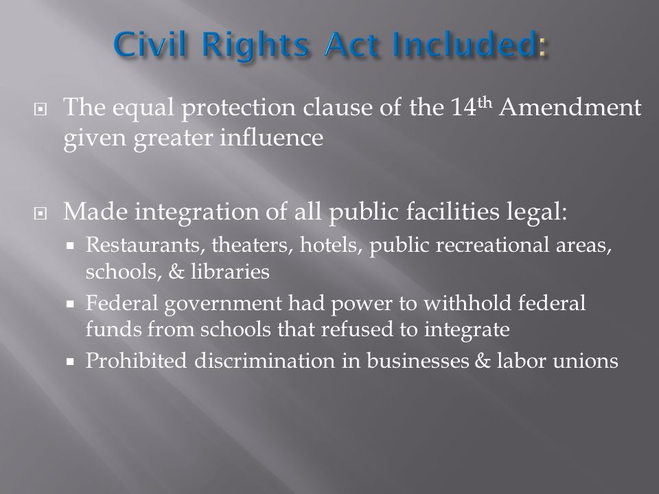 Civil Rights Act Included: