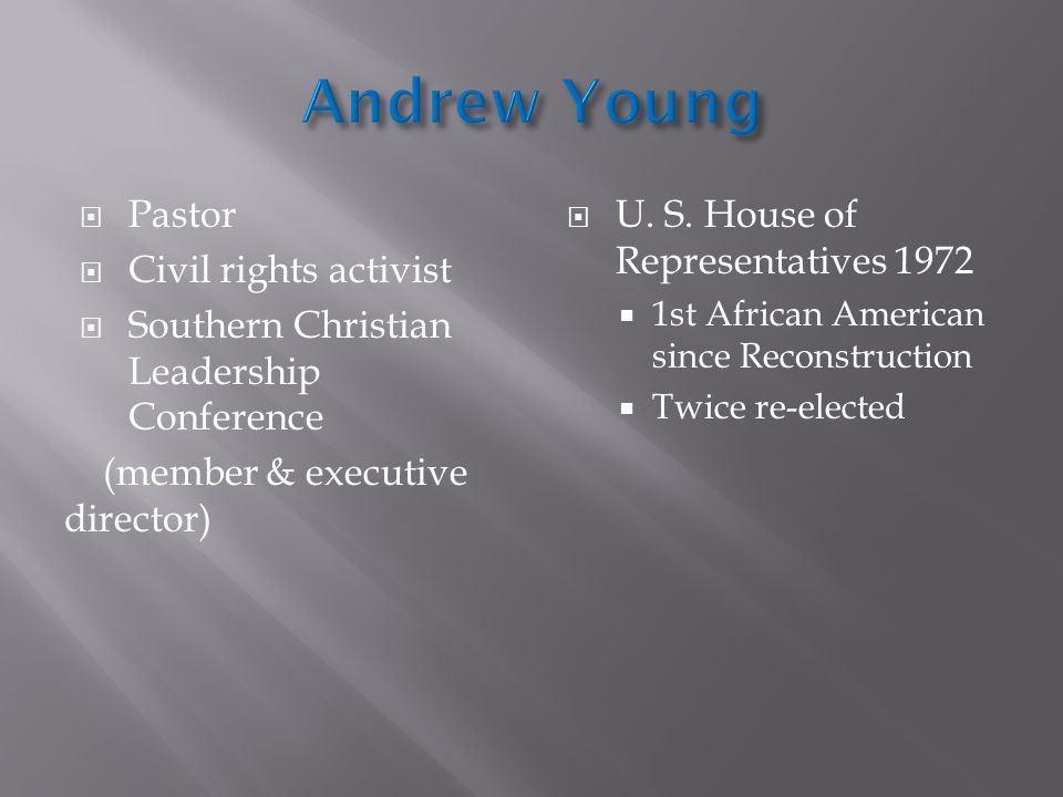 Andrew Young Pastor Civil rights activist