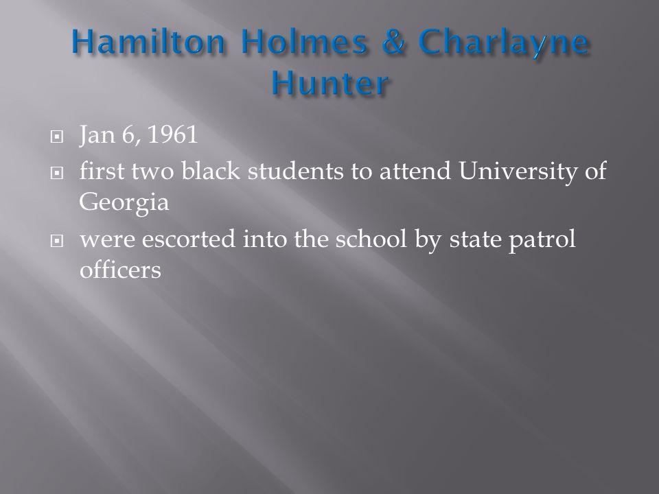 Hamilton Holmes & Charlayne Hunter