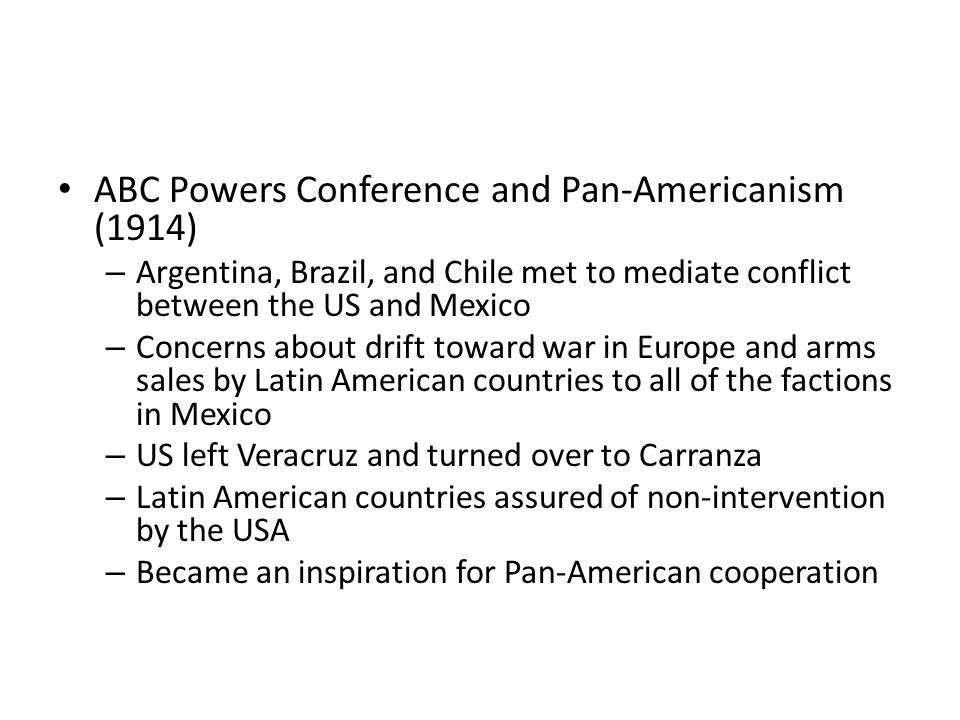 ABC Powers Conference and Pan-Americanism (1914)
