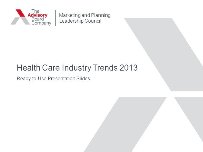 Health Care Industry Trends 2013