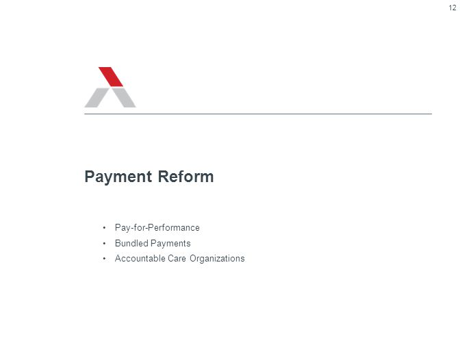 Payment Reform Pay-for-Performance Bundled Payments