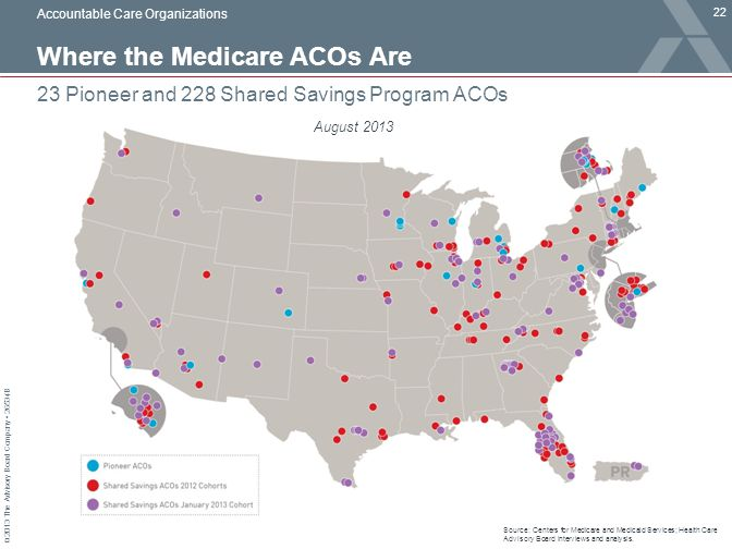 Where the Medicare ACOs Are