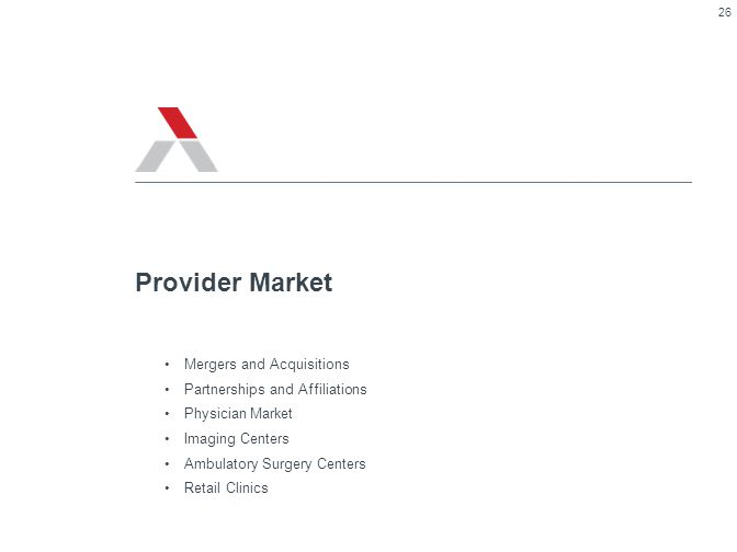 Provider Market Mergers and Acquisitions Partnerships and Affiliations