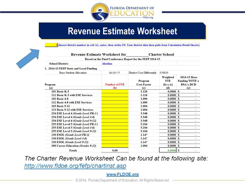 Revenue Estimate Worksheet