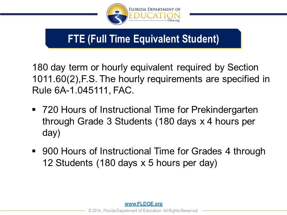 FTE (Full Time Equivalent Student)